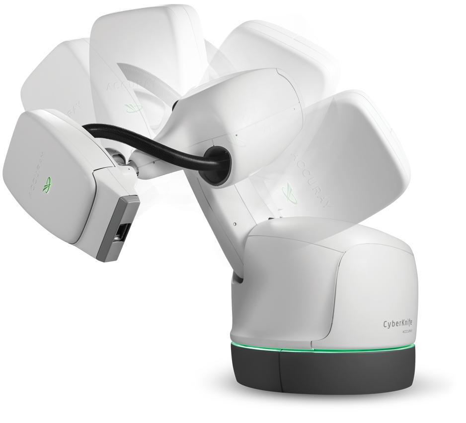 CyberKnife System is a fully robotic radiotherapy device
